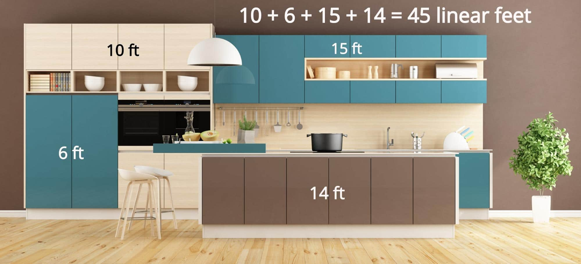 New Kitchen Cabinet Cost Factors and Diagram