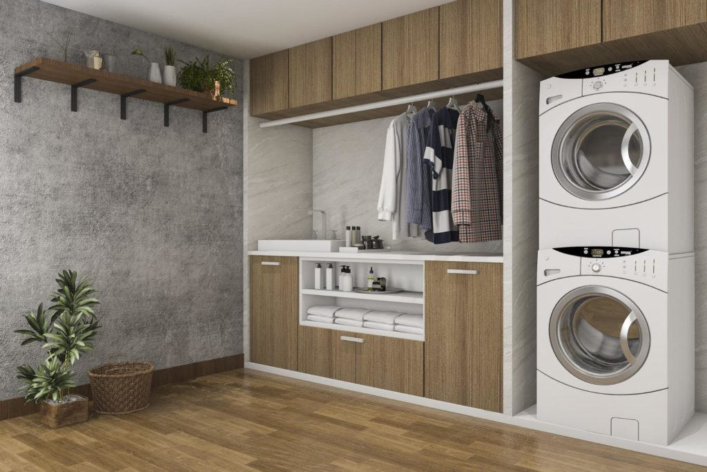 Modern Laundry Room Cabinets