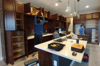 Cabinet Refacing Process