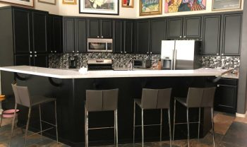 black Refaced Kitchen Cabinets