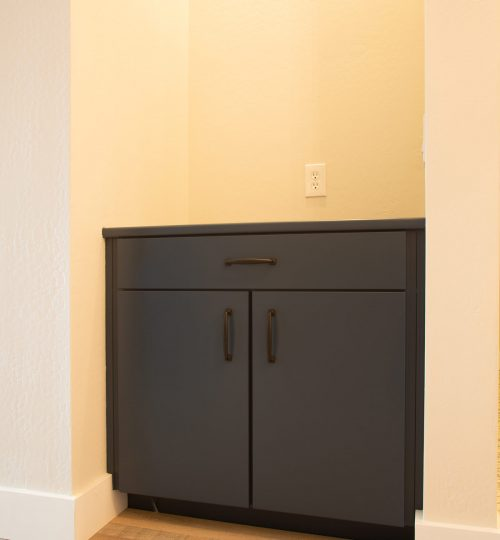 hallway storage refinished